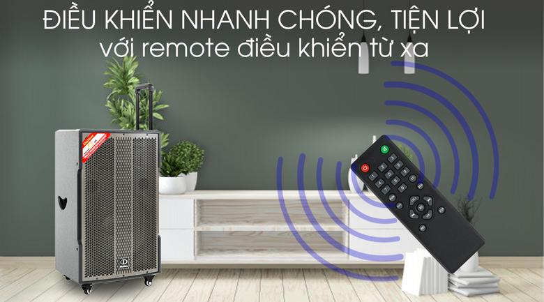 Loa kéo Karaoke Dalton TS-15G600X 600W - Remote