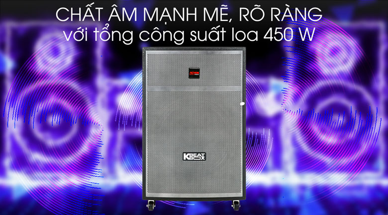 Loa Kéo Karaoke Acnos CBX15G 450W - Công suất
