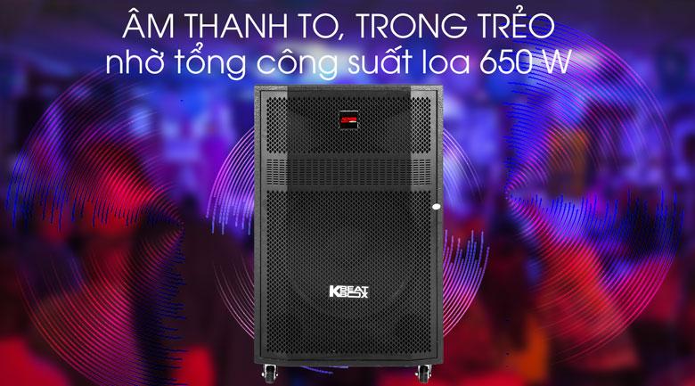 Loa Kéo Karaoke Acnos CBZ16G 650W - Công suất