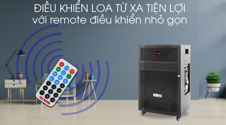 Loa Kéo Karaoke Acnos CBZ16G 650W - Remote điều khiển từ xa