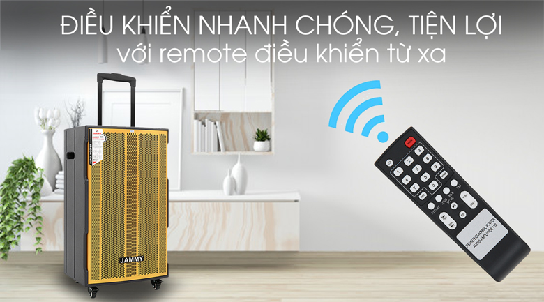 Loa kéo Karaoke Jammy AM4218 600W - Remote điều khiển từ xa
