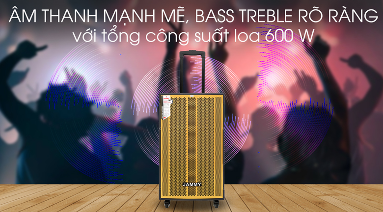 Loa kéo Karaoke Jammy AM4218 600W - Âm thanh lôi cuốn, đã tai với tổng công suất 600 W