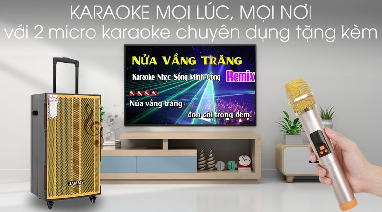 Loa kéo Karaoke Jammy AM4218 600W - Hát Karaoke mọi lúc mọi nơi