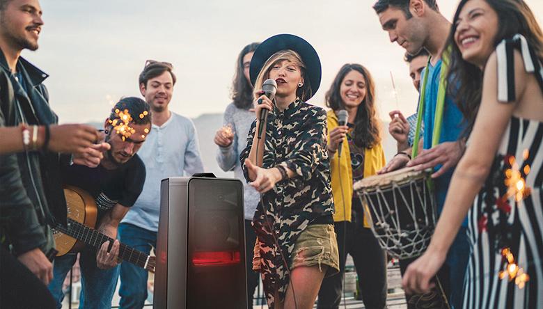 Loa Tháp Samsung MX-T70/XV - Chế độ Karaoke