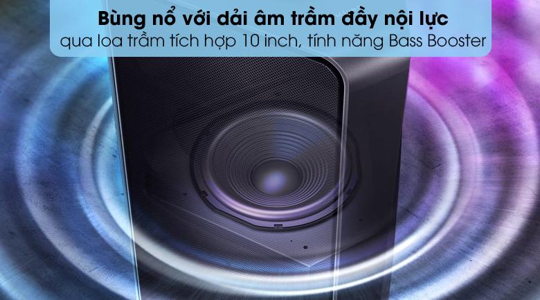 Loa Tháp Samsung MX-T70/XV - Tái tạo chất âm đỉnh cao với biên độ dao động bass lớn