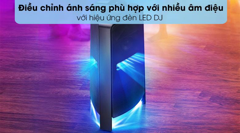 Loa Tháp Samsung MX-T70/XV - Hòa mình vào không khí bữa tiệc sôi động điều chỉnh ánh sáng đa dạng với hiệu ứng đèn LED DJ