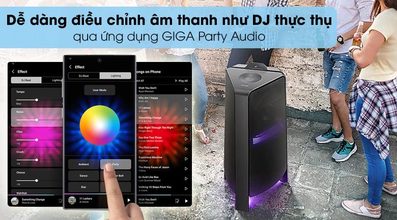 Loa Tháp Samsung MX-T70/XV - Dễ dàng điều khiển âm thanh như hóa thân thành DJ thực thụ nhờ ứng dụng GIGA Party Audio
