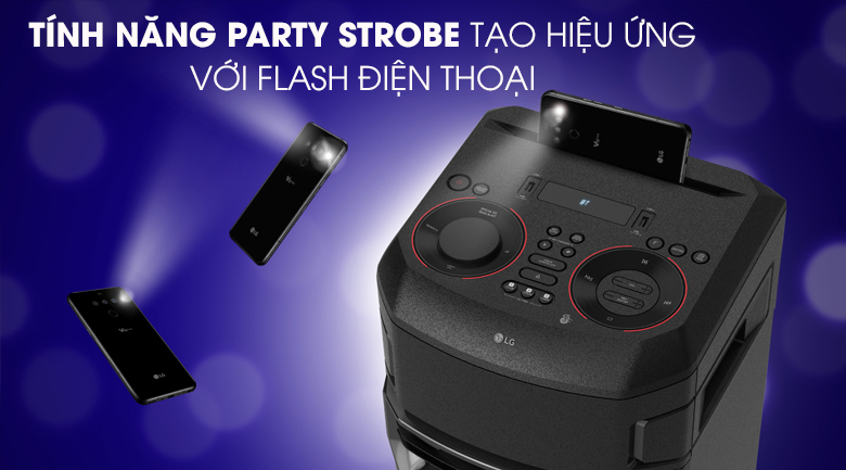 Loa Karaoke LG Xboom RN5 - Tính năng Party Strobe