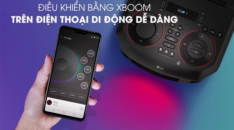 Loa Karaoke LG Xboom RN5 - Điều khiển qua ừn dụng Xboom