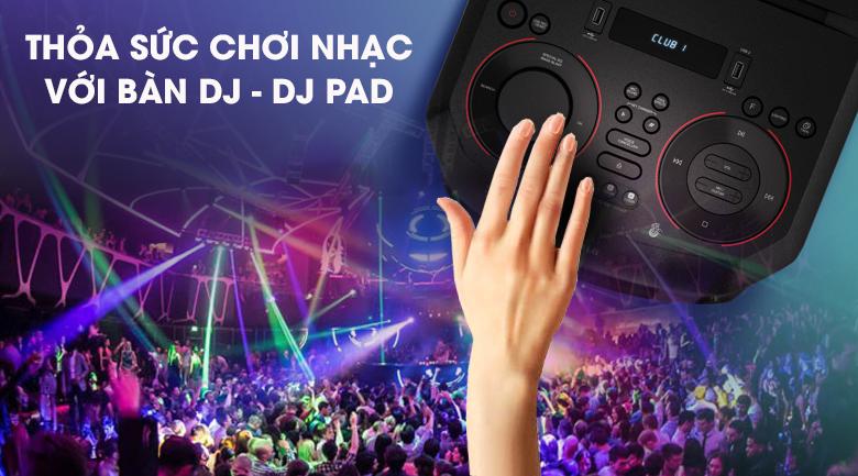 Loa Karaoke LG Xboom RN5 - Thỏa sức chơi nhạc với bàn DJ - DJ Pad