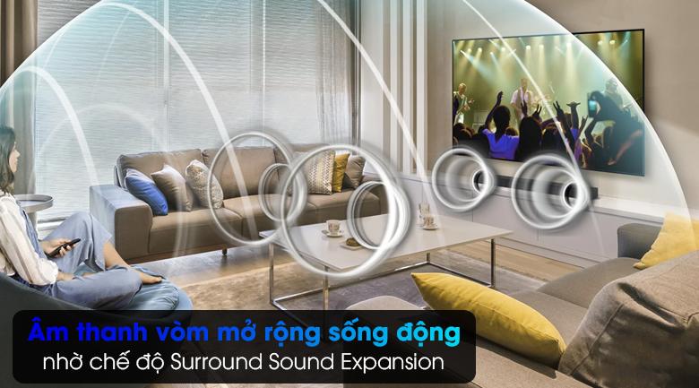 Loa thanh Samsung HW-T550 - Tái tạo âm thanh vòm mở rộng nhờ chế độ Surround Sound Expansion