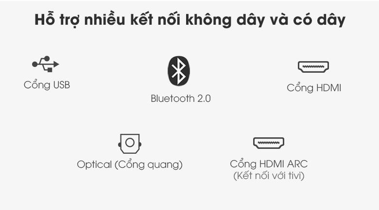 Loa thanh Samsung HW-T550 - Hỗ trợ đa dạng các cổng kết nối