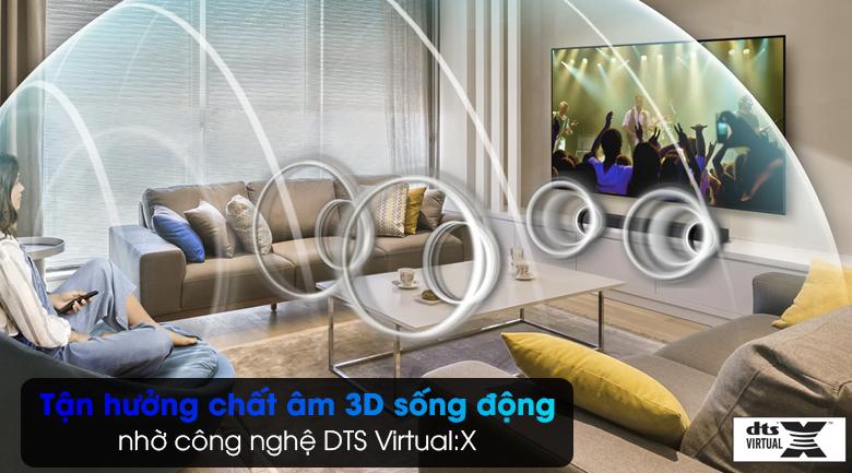 Loa thanh Samsung HW-T550 - Tái tạo âm thanh vòm 3D bao trùm mọi giác quan với công nghệ DTS Virtual:X