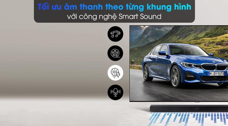 Loa thanh Samsung HW-T550 - Tối ưu âm thanh theo từng nội dung phát ra với công nghệ Smart Sound