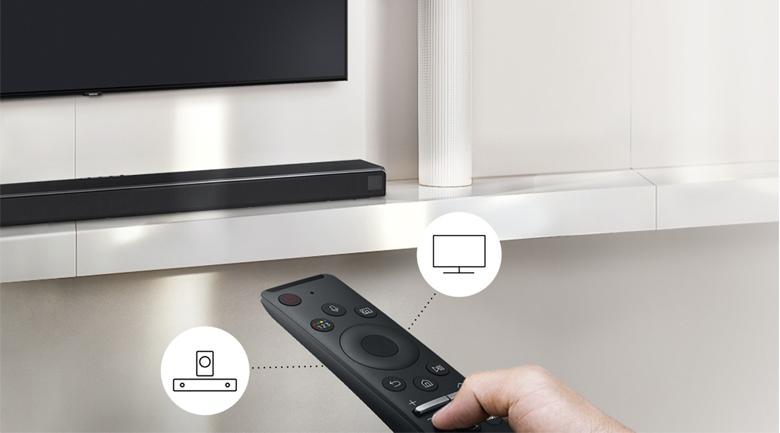 Loa thanh SAMSUNG HW-T420 - Điều khiển từ xa với Remote