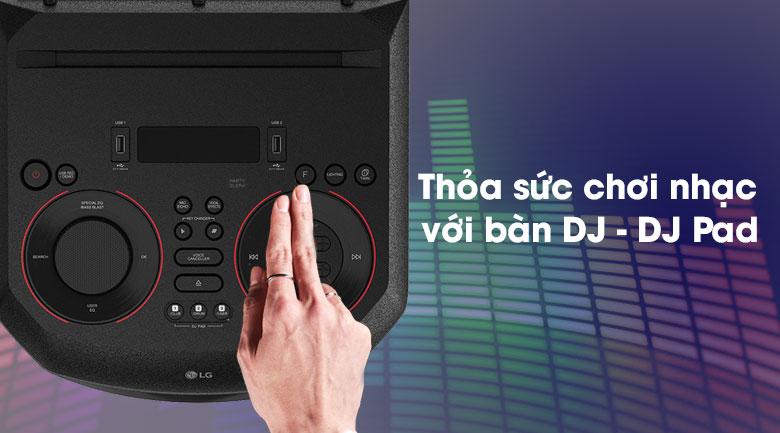 Loa Karaoke LG Xboom RN7 - bàn hiệu chỉnh DJ - DJ Pad