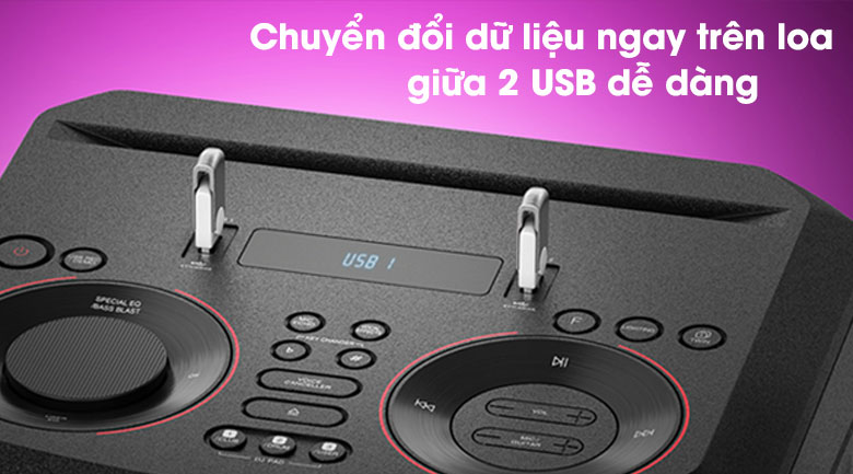 Loa Karaoke LG Xboom RN7 - Copy USB to USB