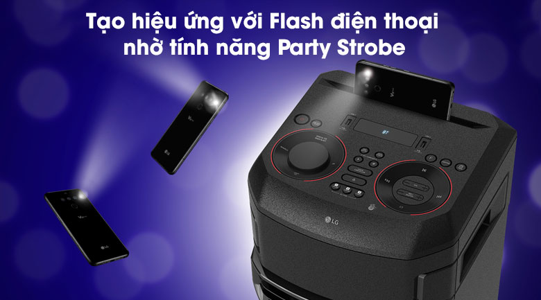 Loa Karaoke LG Xboom RN7 - Party Strobe