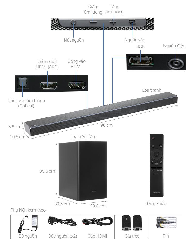 Thông số kỹ thuật Loa thanh Samsung HW-Q60T