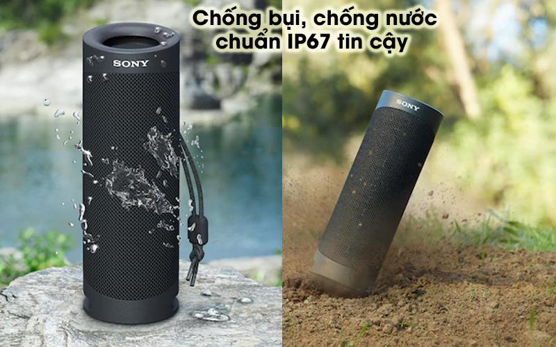 Loa bluetooth Sony Extra Bass SRS-XB23 - Chống nước, chống bụi theo chuẩn IP67