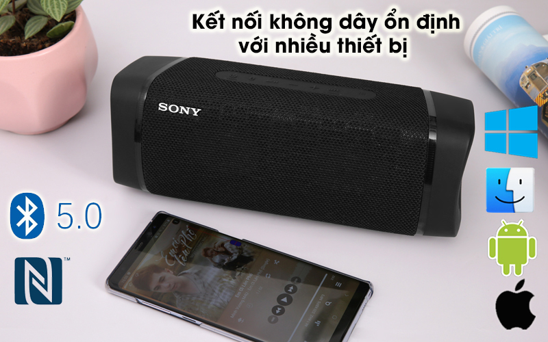 Loa bluetooth Sony SRS-XB33 - Bluetooth 5.0, NFC