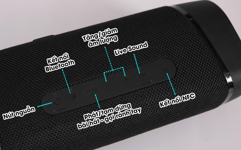 Loa bluetooth Sony SRS-XB33 - Tùy chỉnh các chức năng dễ dàng với nút nhấn