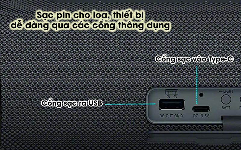 Loa bluetooth Sony SRS-XB33 - USB