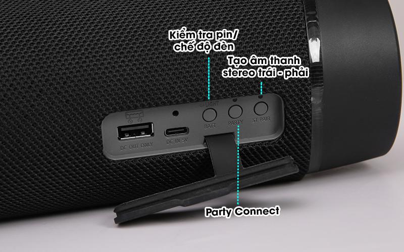 Loa bluetooth Sony SRS-XB33 - Điều khiển
