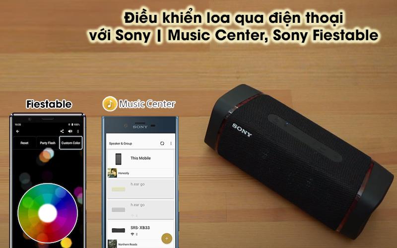 Loa bluetooth Sony SRS-XB33 - Sony Fiestable, Sony | Music Center