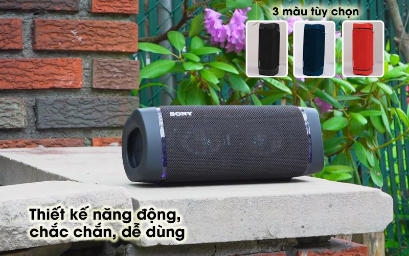 Loa bluetooth Sony SRS-XB33 - Thiết kế đơn giản