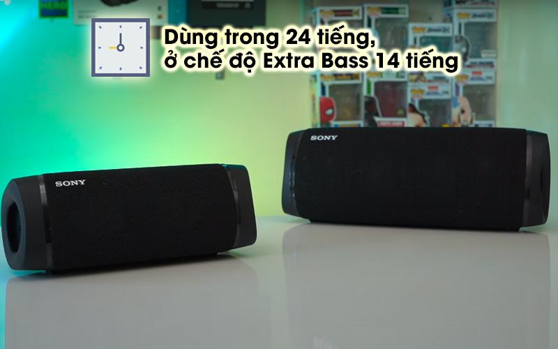 Loa bluetooth Sony SRS-XB33 - Thời gian sử dụng trong 24 tiếng
