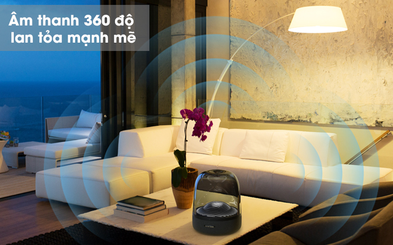 Loa Bluetooth Harman Kardon Aura Studio 3 - Âm thanh 360 độ Harman Kardon