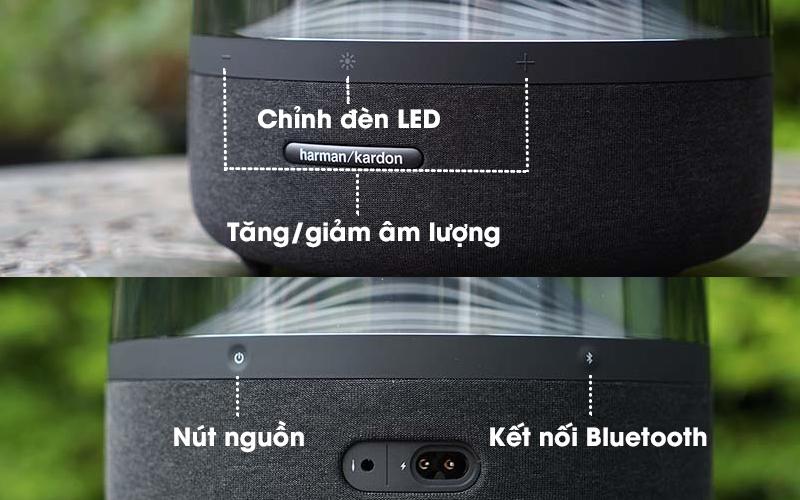 Loa Bluetooth Harman Kardon Aura Studio 3 - Nút nhấn điều khiển loa dễ dàng thao tác