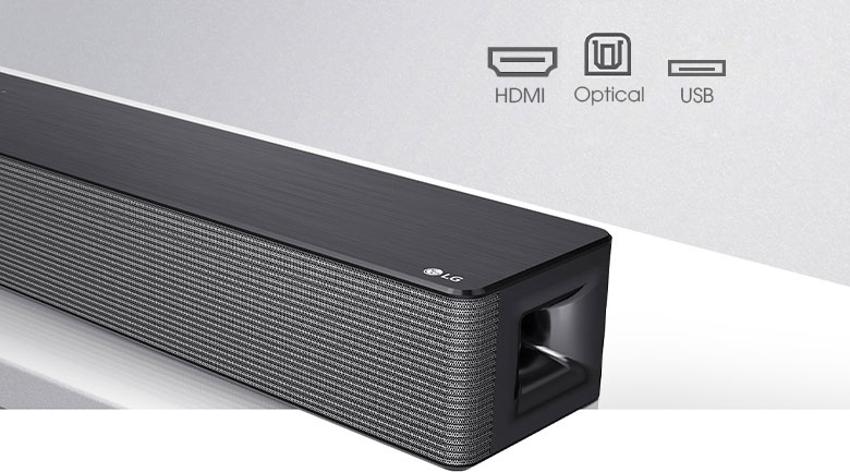 Loa thanh soundbar LG 4.1 SNH5 600W- Kết nối