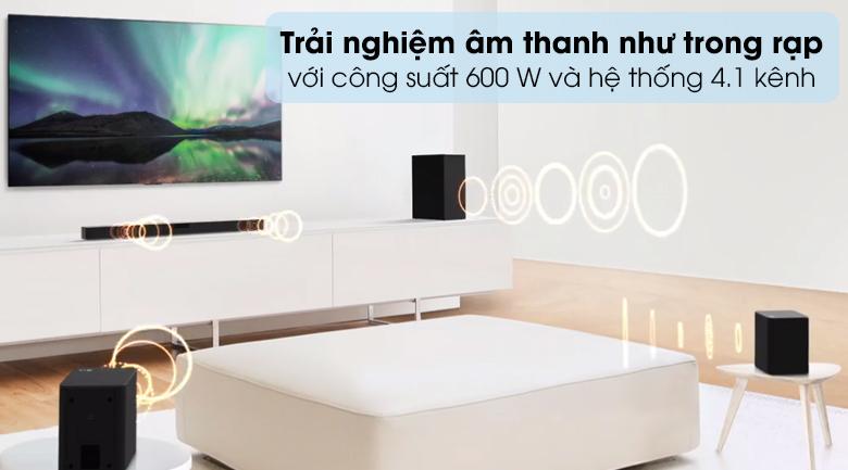 Loa thanh soundbar LG 4.1 SNH5 600W - Trải nghiệm âm thanh