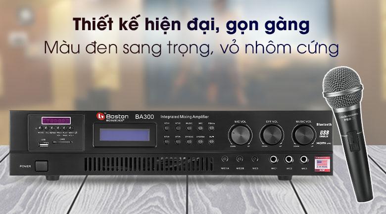 Amply Karaoke Boston Acoustics BA300 - Thiết kế
