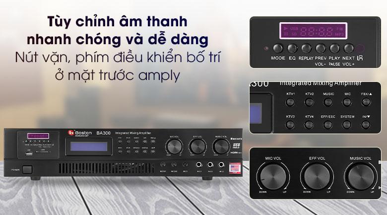 Amply Karaoke Boston Acoustics BA300 - Phím điều khiển