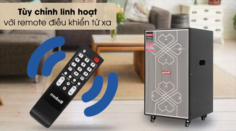 Loa kéo Karaoke Mobell MK-6080 600W - Điều khiển nhanh chóng, thuận tiện qua remote điều khiển từ xa