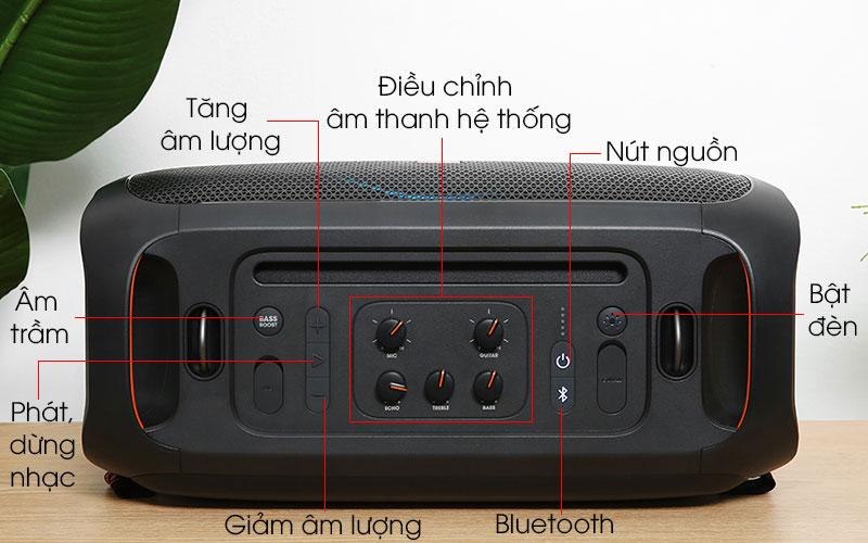 Loa bluetooth JBL Partybox On-The-Go - Bảng điều khiển