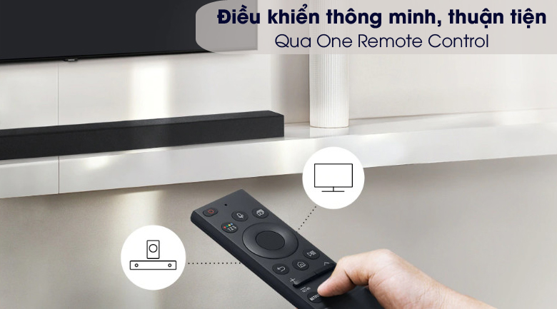Hỗ trợ One Remote Control - Loa thanh Samsung HW-A450