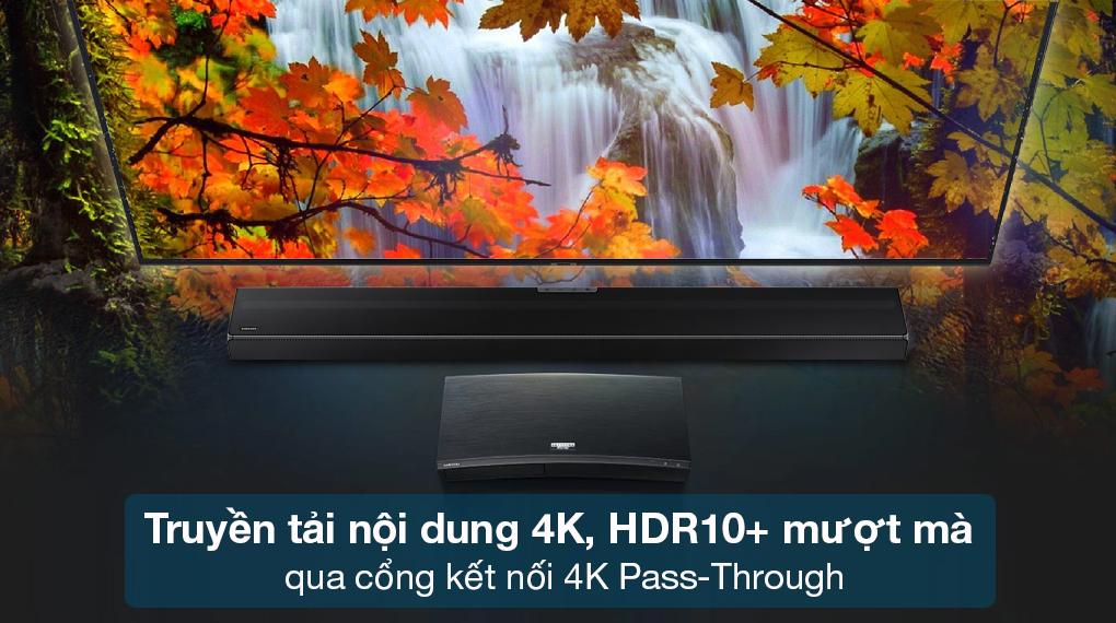 Loa thanh Samsung HW-Q630 - Truyền tải nội dung 4K, HDR10+ chất lượng cao thông qua cổng 4K Pass-Through