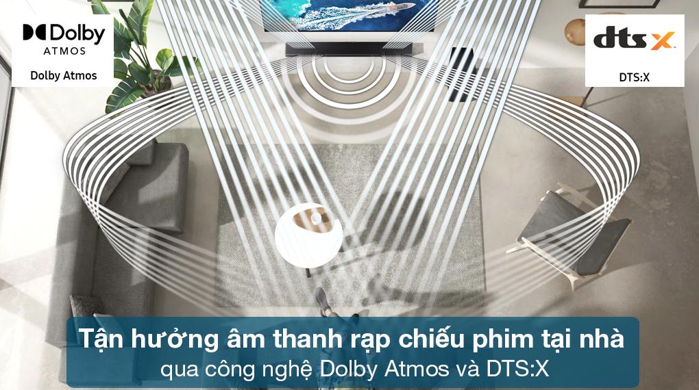 Loa thanh Samsung HW-Q630 - Âm thanh đa chiều bao trùm không gian với công nghệ Dolby Atmos và DTS:X