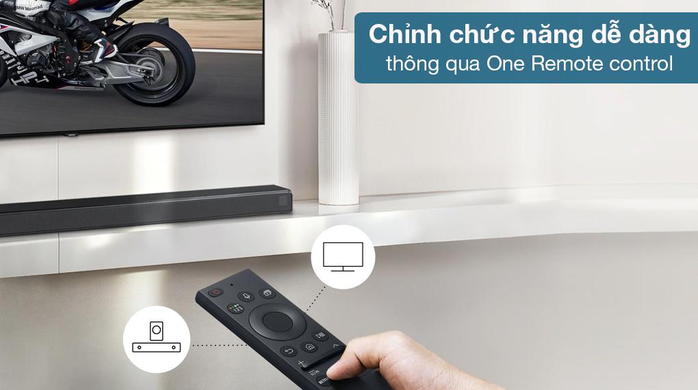 Loa thanh Samsung HW-Q630 - Hỗ trợ thêm One remote control giúp điều khiển loa thanh soundbar thêm tiện lợi