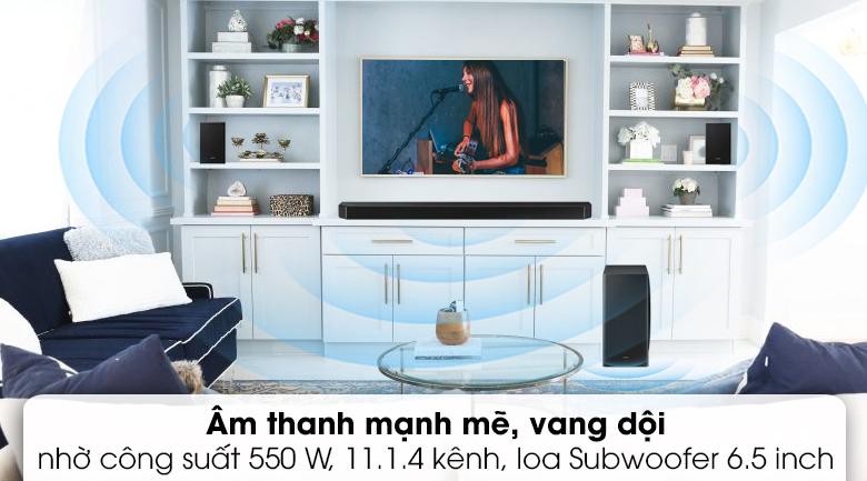 Loa thanh Samsung HW-Q950A - Âm thanh mạnh mẽ vang dội với 11.1.4 kênh và tổng công suất 550 W