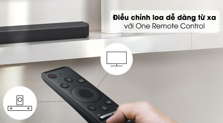 Loa thanh Samsung HW-Q950A - Điều khiển loa từ xa nhanh chóng và tiện lợi với remote đi kèm