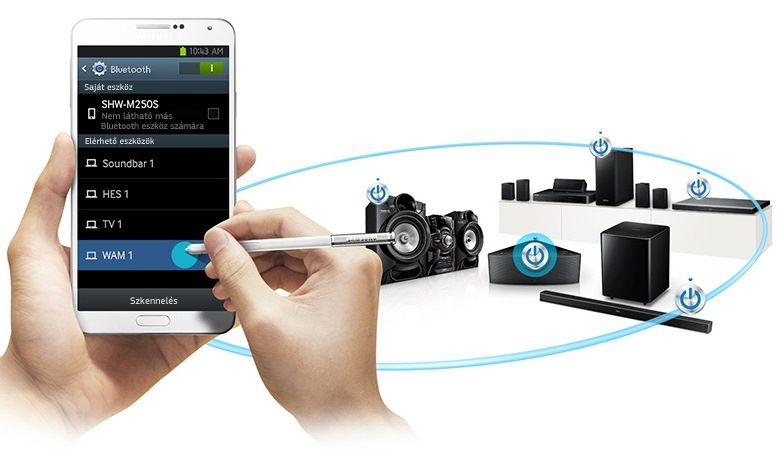Điều khiển dàn máy bằng smartphone