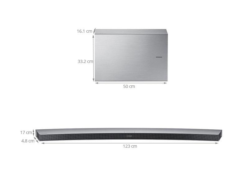 Thông số kỹ thuật Loa thanh cong Samsung HW-J7501W/XV 8.1CH