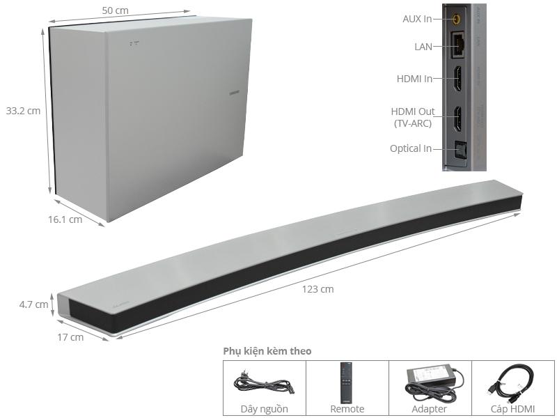 Thông số kỹ thuật Loa Soundbar Samsung HW-J7501R 4.1 kênh