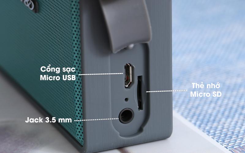 Loa Bluetooth Fenda W5 - Cổng kết nối
