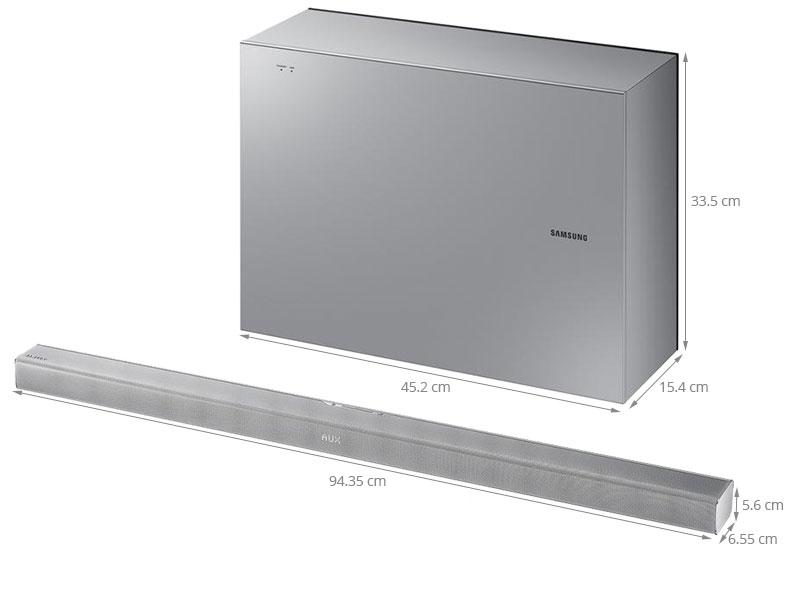 Thông số kỹ thuật Loa Soundbar 2.1 Samsung HW-J551/XV